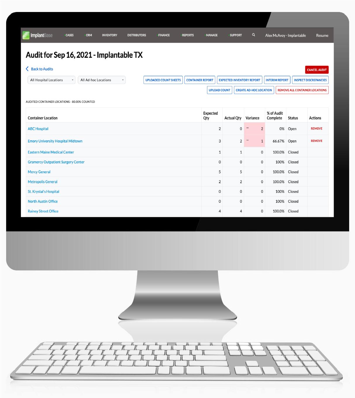 IB_Audit_Module Screen